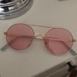 Urban Outfitters rose tinted round aviator shades